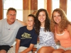 Luke\'s Dad, Luke, and his two sisters, Lexi and Sammi