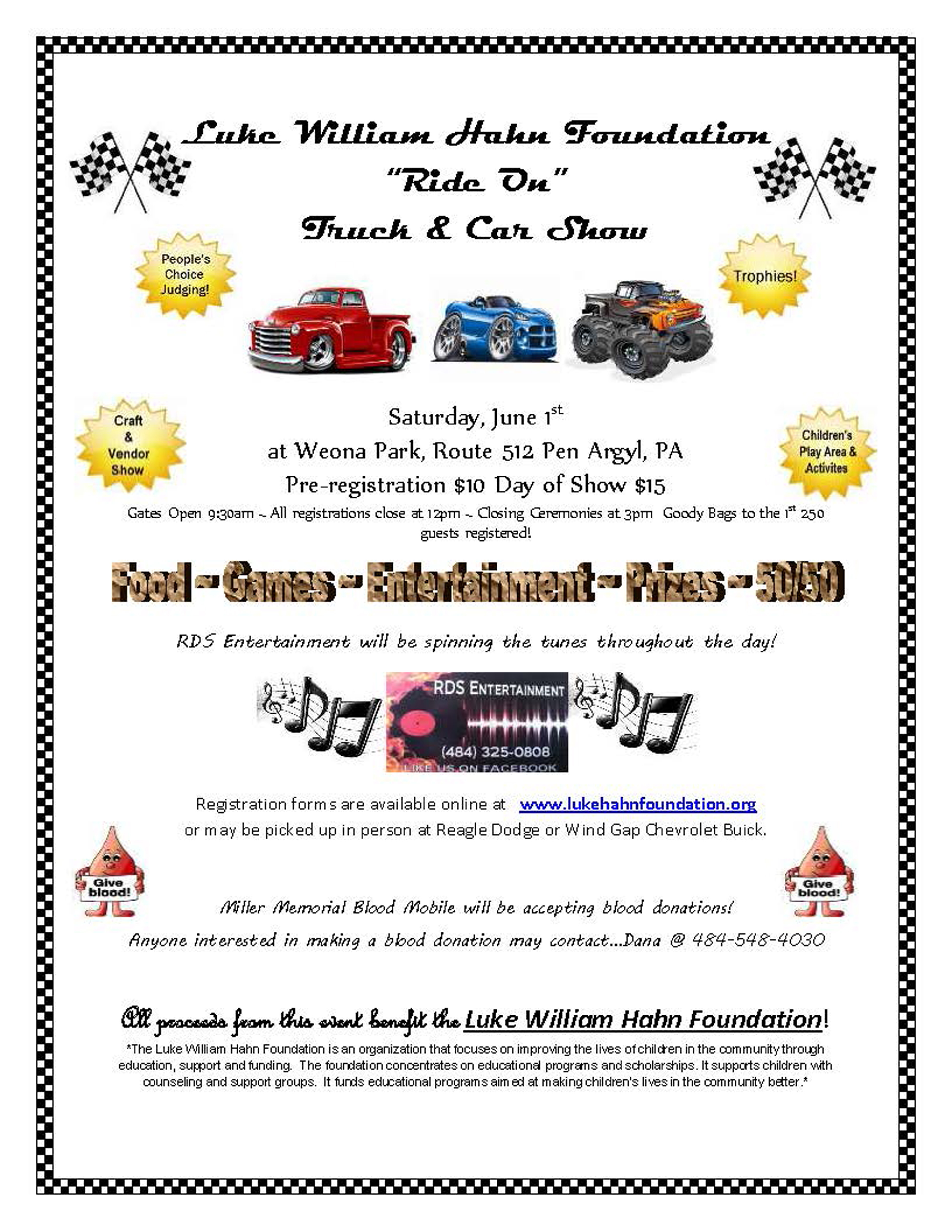 LWH Foundation Truck and Car Show Flyer